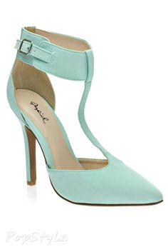 Qupid Potion97 Ankle Strap Pointy Toe Pump