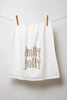 Holiday Cheer Dishtowel  #anthropologie #AnthroFave