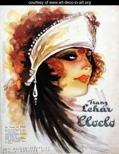 Cover of the score sheet for Cloclo from The Merry Widow - Herzig - www.art-deco-in-art.org