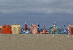 beach tents:  France