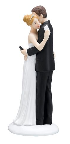 texting bride & groom - this is hilarious and awesome.  don't ask why I'm looking at wedding cake toppers, though!  LOL