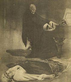 horror art, gothic, stuff, death, dark art, la martyr, artist, martyr 1919, illustr