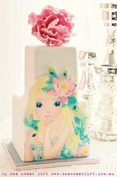 models, topmodel cake, sweet girl, fairy cakes, fabul cakescupcak, fairies, birthdays, girl cake, fairi cake