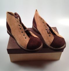 vintag toddler, top boot, boot shoe, toddler high, shoe tan