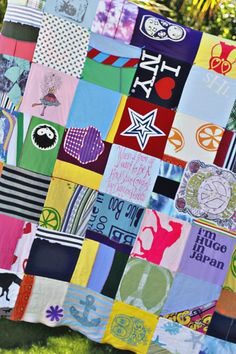 T-shirt quilt. Awesome blog! Great crafty ideas!