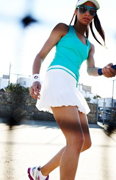 The first whiff of spring and we're ready to don our tennis gear. Dust off those rackets girls...