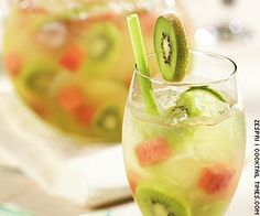 "Kiwi Melon Sangria - use a bottle of August Kesseler Riesling ""R""!"