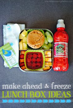 Make ahead and freezer friendly lunch box ideas.