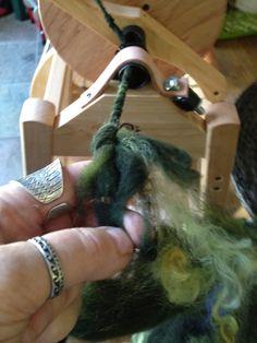 CENTERING WITH FIBER: Dragon egg Saori woven scarf