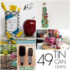 49 Tin can crafts...never throw away another tin can!