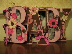 "My daughter's ""baby"" word album - Scrapbook.com - #scrapbooking #minialbums #bobunnypress #fancypantsdesigns"