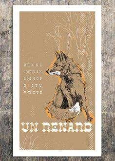 r is for renard (fox)