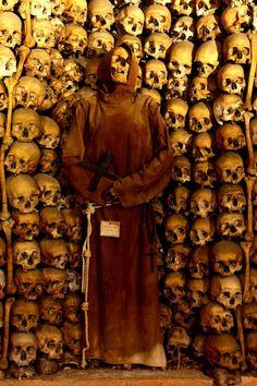 Mummified Monk in the crypt of the Monastery of Santa Maria della Concezione (Rome, Italy)