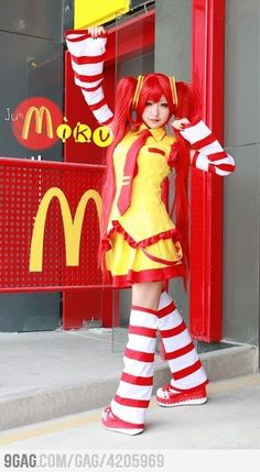 Miku Donalds - ALRIGHT. I would never wear this in real life, but this is hilarious.