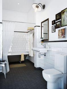 Decoração de banheiros simples Fonte: annagillar.se