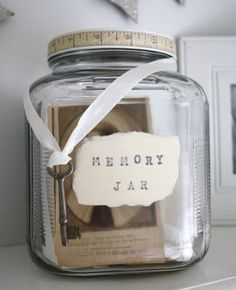 Keep a jar for each year, write down happy memories throughout the year and read on New Year's Eve.