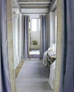 john saladino   lavender silk and embroidered border