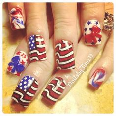 nailsbytinav's 4th of July nail inspo. Tag yours with #SephoraNailspotting for the chance to be featured! #Sephora #nails #nailpolish