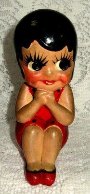Original Vintage 1920s Chalk Chalkware Betty Boop Flapper Figure w Provenance | eBay