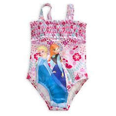 Anna and Elsa Swimsuit for Girls - Frozen |