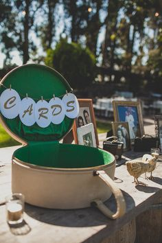 vintage suitcase as card holder #weddingceremony #weddingideas #weddingchicks http://www.weddingchicks.com/2014/02/12/california-ranch-wedding/