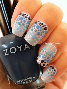 Dotted Gradient Nails #nailart - bellashoot.com