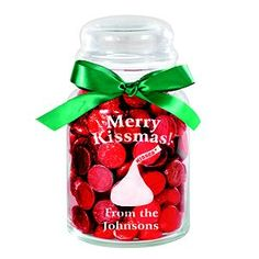 Christmas gifts could do with recycled candle jars and stickers with different sayings