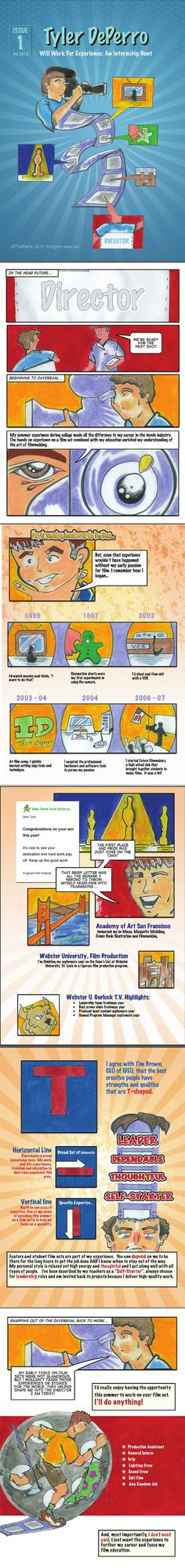 visual resume example cartoon