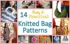 Explore 14 pretty and practical knit bag patterns in this free collection.