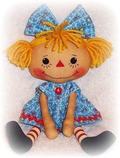*RAG DOLL PATTERN ~ PDF Rag Doll Sewing Pattern