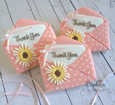 A Sweet Thank You Note | Cookies by Missy Sue | Cookie Connection