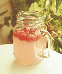 Raspberry vodka and lemonade.