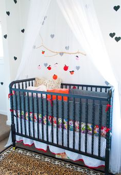 Eclectic Nursery with Navy Blue Crib - Project Nursery