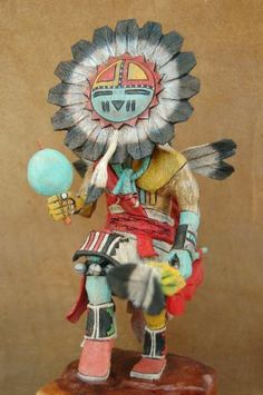 Hopi Indian Sunface Kachina Doll by Milton Howard |