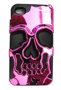 skulls, iphone cases, cat, pink metal, ink pink, iphon case, bows, metal skull, skull iphon