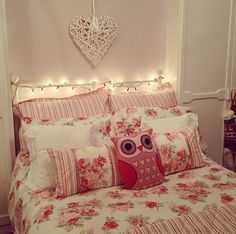 owl pillows, fairies, dream bedroom, beds, dreams, pink, bedrooms, dream houses, dream rooms