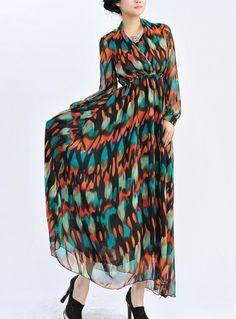 stand dress, sleev stand, long sleev