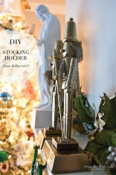 Michaels Recollection Glitter DIY Stocking Holder