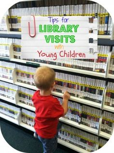 Tips for library visits with young children.    via Cheerios and Lattes