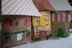 Goldilocks and the Three Bears Paper Bag Houses