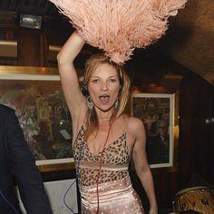 Kate Moss Wears a Polka-Dot Suit at Annabel's Nightclub | POPSUGAR Fashion