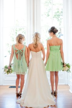 love the back of the bridesmaid dresses