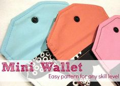 Mini Scrap Wallet pattern FREE on Craftsy.com designed by @Heather Valentine of The Sewing Loft #sewing #freepattern