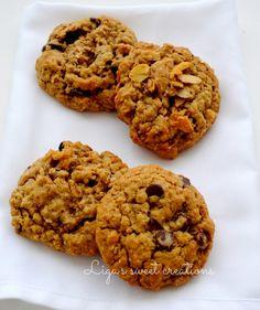 Oatmeal cookies  4 variations:   oatmeal raisin, oatmeal walnut, oatmeal chocolate chip and oatmeal honey roasted almond! Made  by Liga's sweet creations