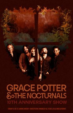 yaoamy ,,,,,Amy Yao   At long last, the Grace Potter & the Nocturnals poster is complete--check it out and tell me what you think!  Twitter / yaoamy