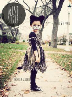 DesignThrift: MIMI-STYLE: BUDGET HALLOWEEN KITTY COSTUME #costume #kitty #cat #halloween #diy #budget
