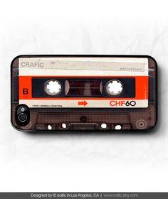 iPhone 4 case iPhone 4s case - Vintage Cassette Tape iPhone Case. $17.99, via Etsy.