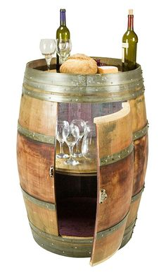 Wine Gift - This wine barrel bar will be a wonderful addition to your family room, dining room, kitchen or wine cellar.