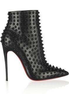 Christian Louboutin 'Snakilta' Studded Black Ankle Boots €1,465 Spring 2014 #CL #Louboutins #Shoes