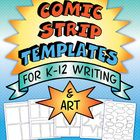 Kids of all ages love comics and these 30 templates will give them plenty of options for a wide variety of writing and art projects. A FREE sample to try is included in the Preview. Retelling, sequencing, cause and effect, step-by-step, and writing a math story problem are a few of the ways to use these comic strip templates.